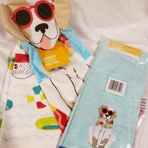 Set of 3 - Dog Kitchel/Hand Towels  NWT!